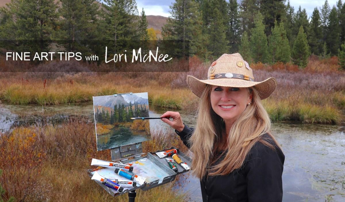 Lori McNee 2020 Fine Art tips Home page Header Photo