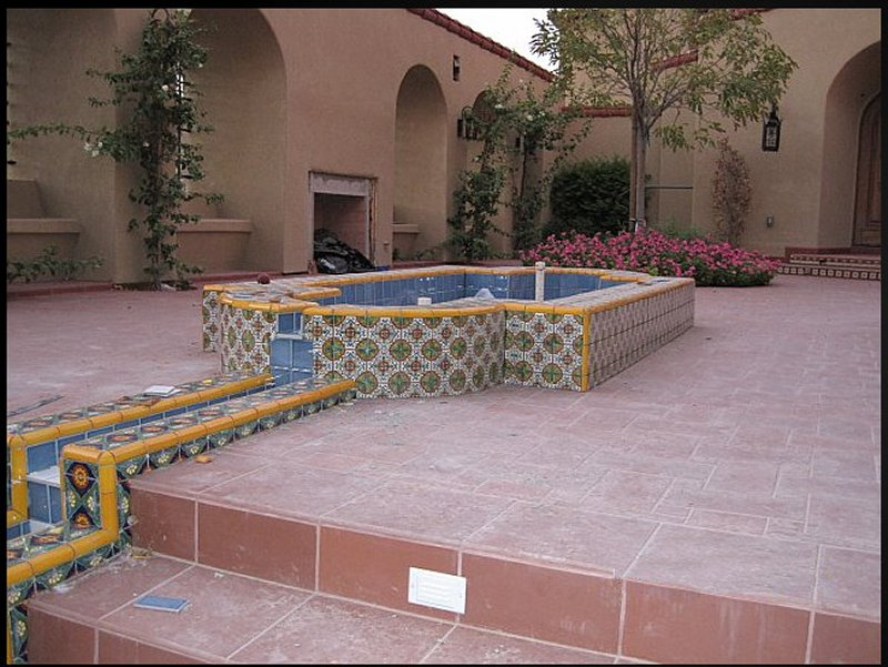 mexican tile decorating a wading
