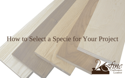 Selecting a Specie for Your Project