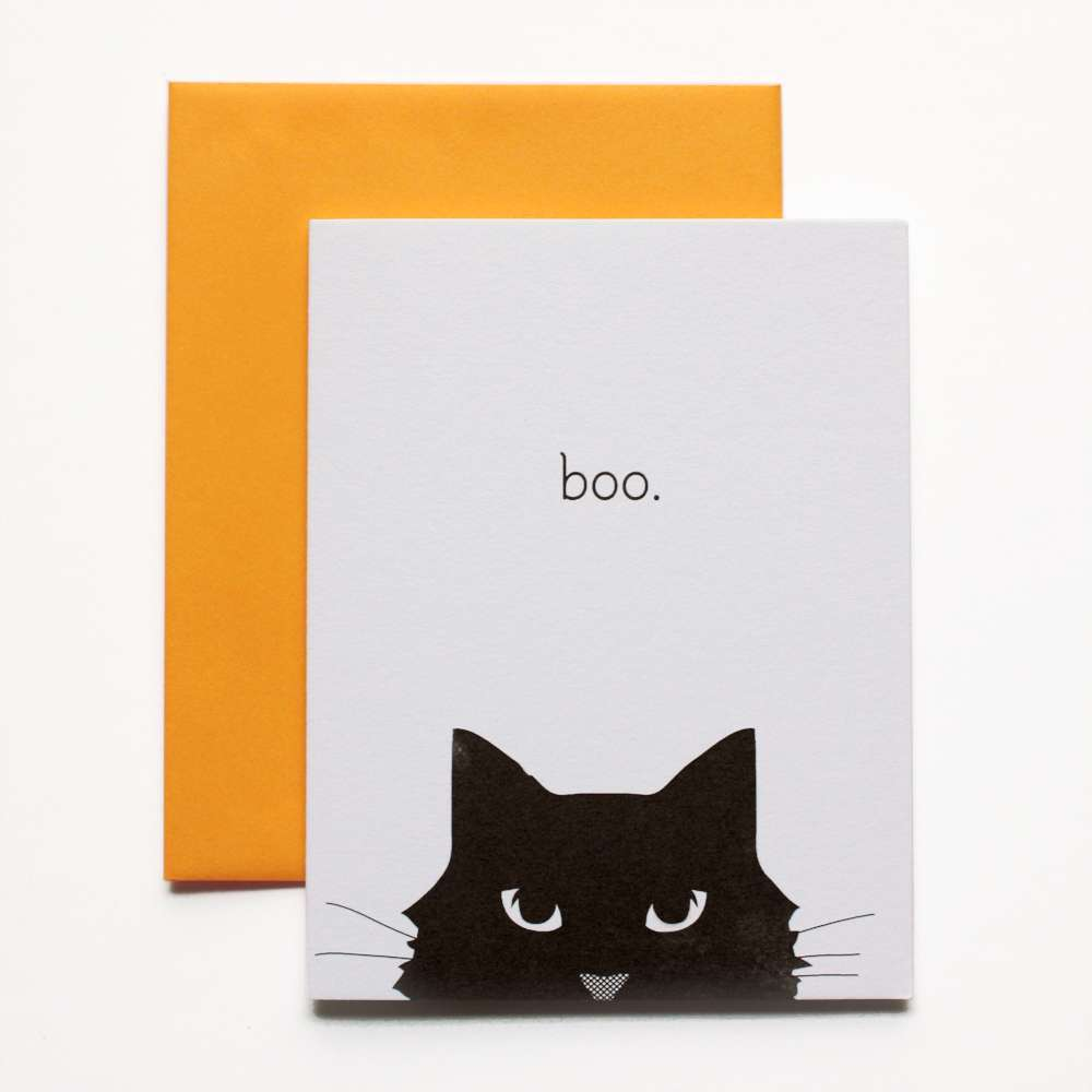 Boo Halloween Cat Card Fine Day Press Greeting Cards