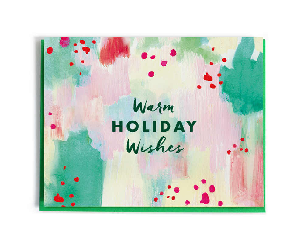 Christmas Card Warm Holiday Wishes Fine Day Press