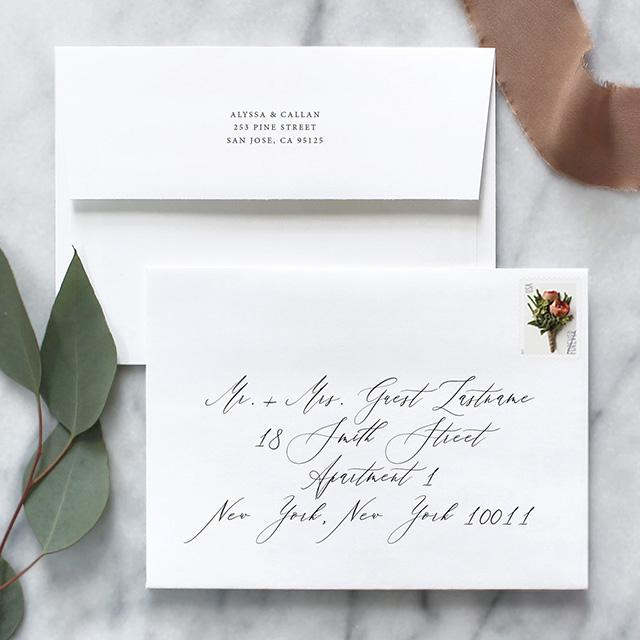 How To Address Wedding Invitation Envelopes Fine Day Press