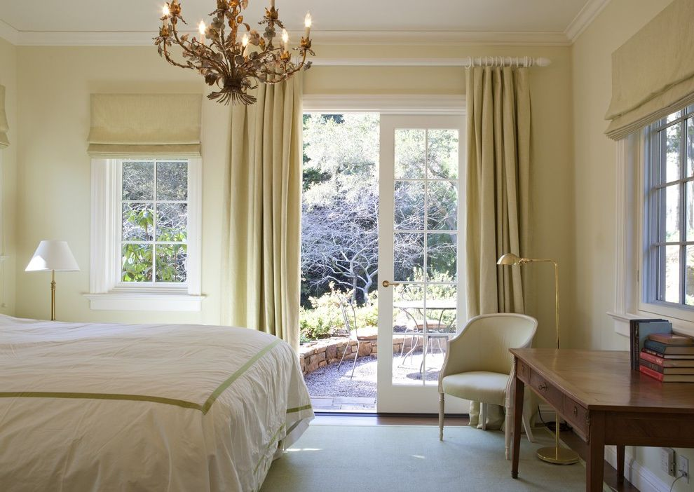 2 inch curtain rods traditional bedroom