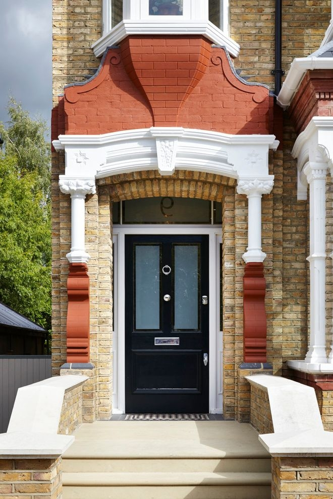 Anderson Front Doors Victorian Entry Also Black Front Door Front | Home Front Steps Design | House | Main Door Step | Unusual | Front House Terrace | Rounded