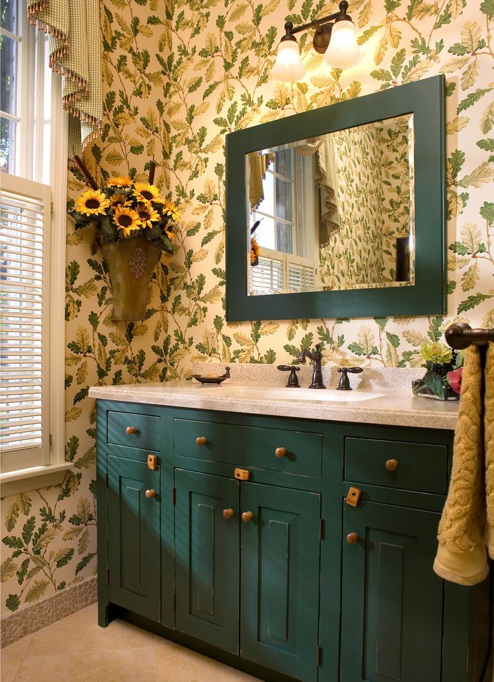 Avanity Mirrors For Farmhouse Powder Room Also Botanical