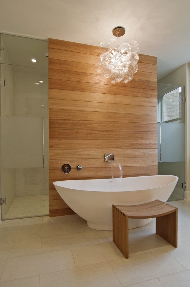 Bathtub Faucet With Sprayer With Contemporary Bathroom And