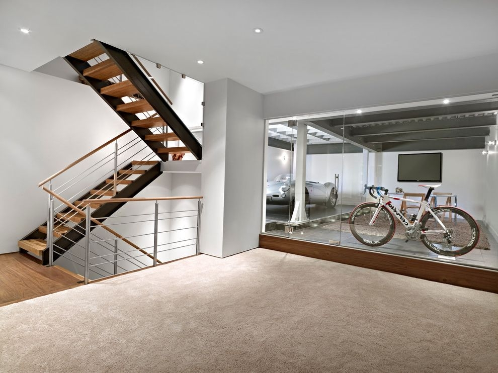 Carpet Garage Missoula With Contemporary Basement And Bike Storage | Carpet For Garage Stairs | Concrete | Stair Riser | Concrete Stairs | Stair Runner | Garage Floor