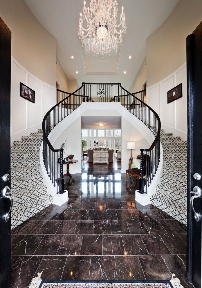 Carpet One Columbia Sc With Traditional Staircase Also Black And   Black And White Carpet Stairs   Victorian   Striped   Geometric   Low Cost Simple   Unusual