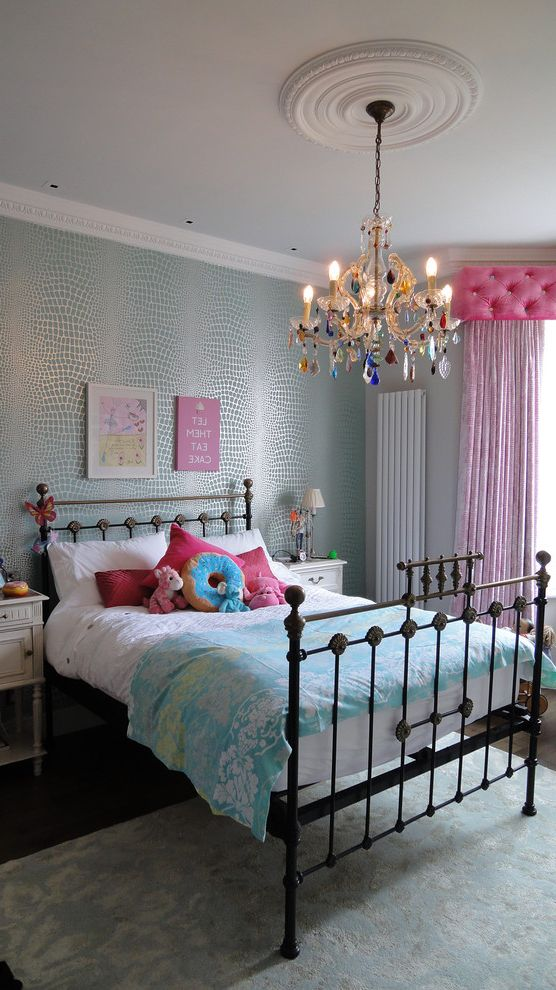 Chandelier For Girl Bedroom With Transitional Kids Also
