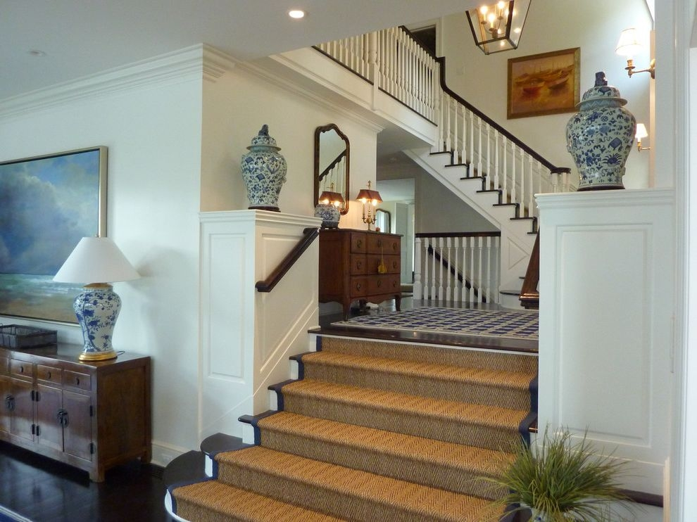 Home Depot Sisal Rug With Traditional Staircase Also Asian Dark | Home Depot Stair Rugs | Non Slip | Beige | Stratford Kazmir | Stair Treads | Tread Covers