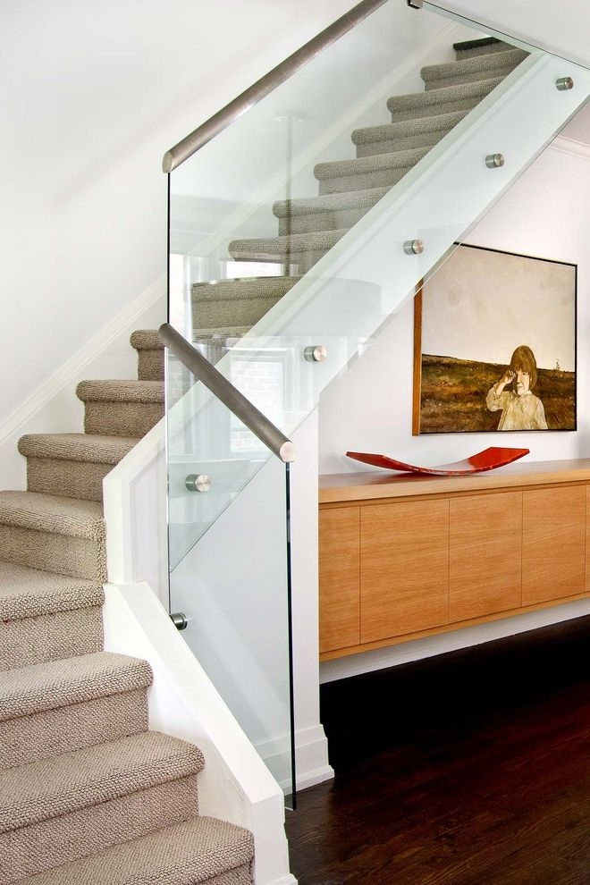 How To Install Carpet On Stairs Contemporary Staircase Also Art   Putting Carpet On Stairs   Modern   Colour   Design   Gray   Protector