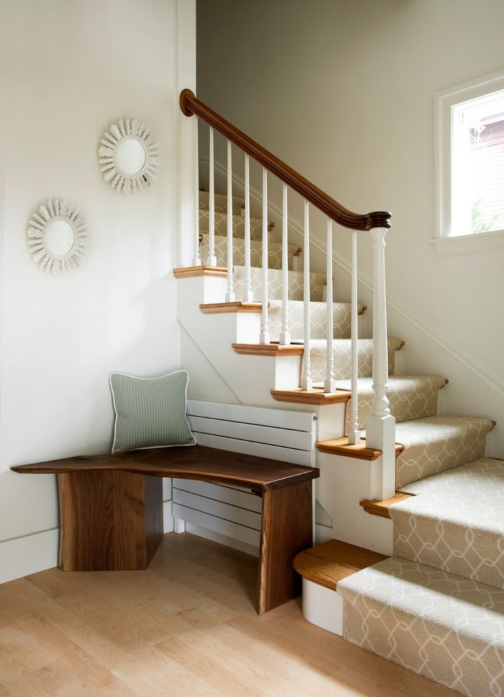 How To Install Carpet On Stairs With Transitional Staircase Also   Wooden Stairs Design For Small Spaces   Apartment   Cabinet   2Nd Floor Small Terrace Concrete   Residential   Outdoor