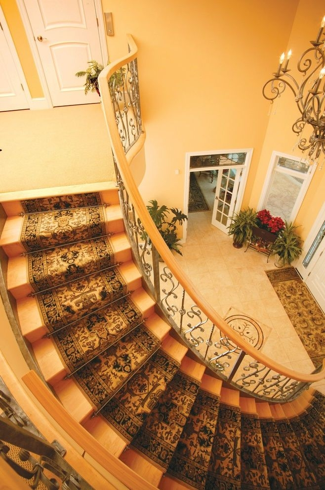 How To Stop Cats From Scratching Carpet For Traditional Staircase | Spiral Staircase Carpet Runners | Staircase Ideas | Staircase Railings | Stair Case | Beige Carpet | Sisal Stair