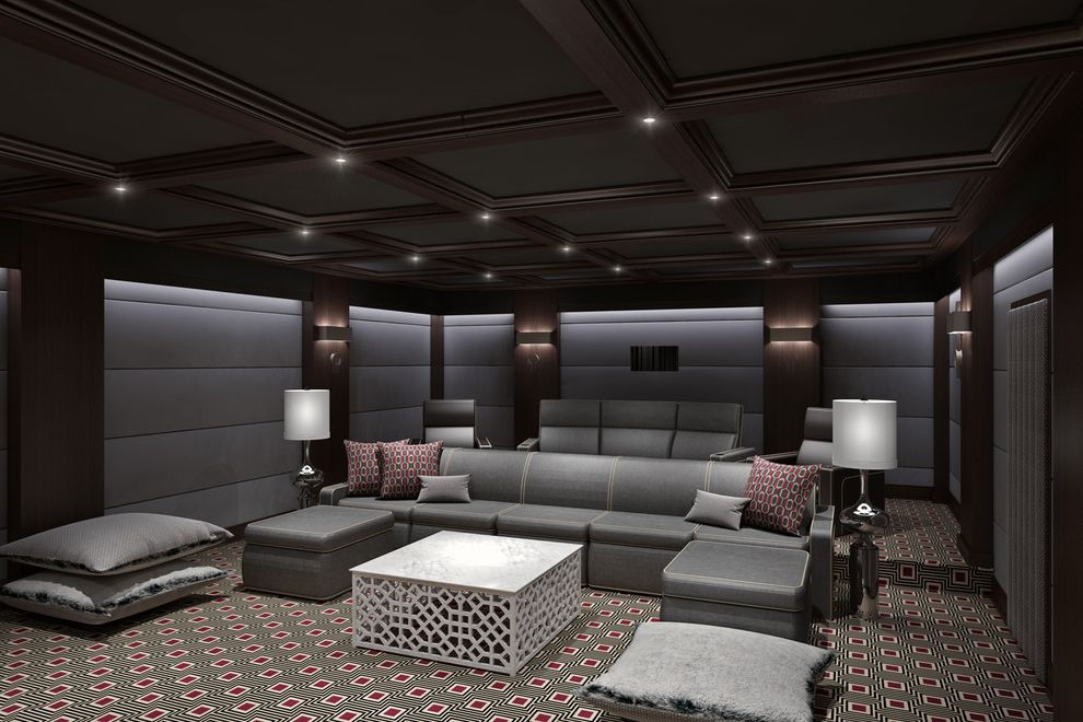 Kanes Furniture Ocala Contemporary Home Theater And Basement