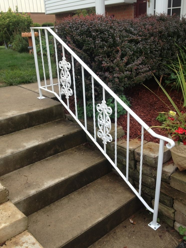 Outside Step Railings Landscape And Creative Custom Iron Outside   Outside Metal Railings For Steps   Galvanized Iron   Wrought Iron Staircase Used   Decorative Iron Stair Rail Support   Steel Railing   Mixed
