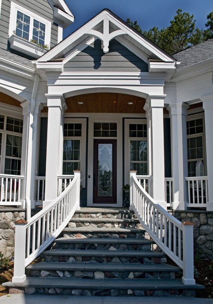 Outside Step Railings Modern Landscape And Concrete Concrete Steps | Outside Steps For House | Front Door | Entryway | Decorative | Ranch Style House | Beautiful