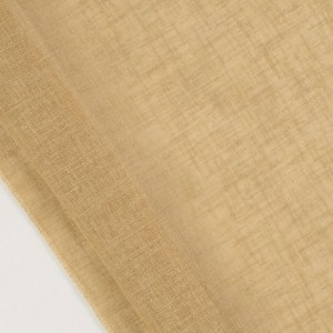 Sheer faux linen in sand color
