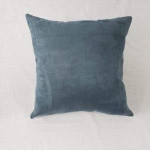Ultrasuede backing to sage plaid cushion
