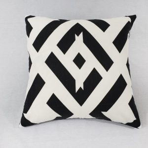"A abstract spade cushion in 22"" x 22"" cushion"