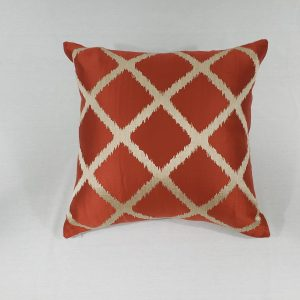 Luxe diamond geo cushion in orange