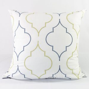 Airy Trellis Euros With Navy Back - 26x26 - Qty2 - 2of2