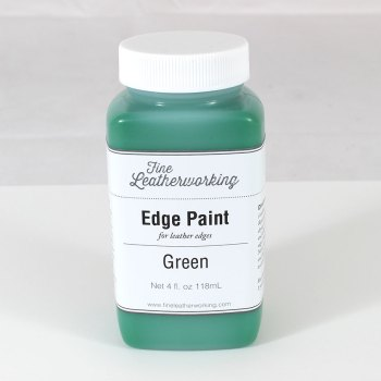 Leather Edge Paint: Green
