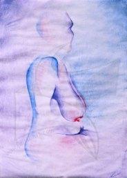 Етюд с акварел - безсюжетна живопис