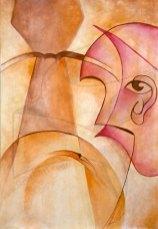 Портрет на Бай Георги - живопис кубизъм