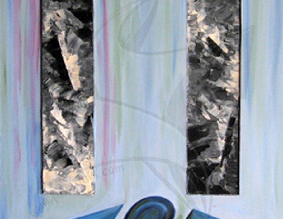 Съвест - живопис с масло върху фазер