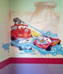 Колите - рисунка с латекс върху стена