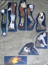 Силуети - колаж от едноименния проект живопис на Fineluart