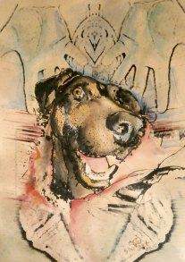 Кучето от южния квартал 2 – картина живопис