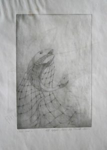 Мрежи 1 – Риба, графика изпълнена в техника дълбок печат