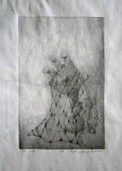 Мрежи 2 – Ръка, гравюра върху метална плоча