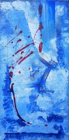 Последен цвят от есента - живопис с акрил