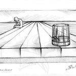 Сам - рисунка с молив
