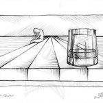 Сам - рисунка с молив върху хартия