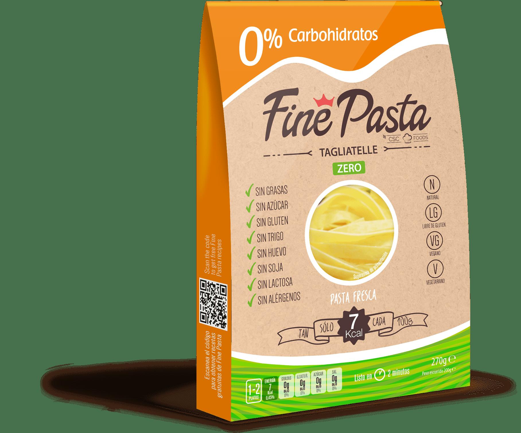 Pasta baja en carbohidratos Fine Pasta Tagliatelle