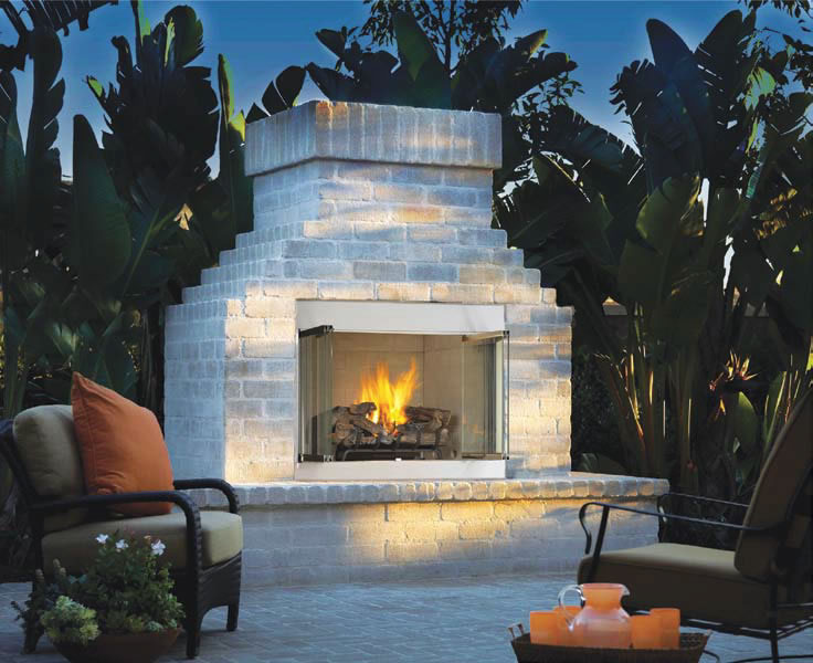 Superior 36 Inch Stainless Steel Outdoor Fireplace Fine