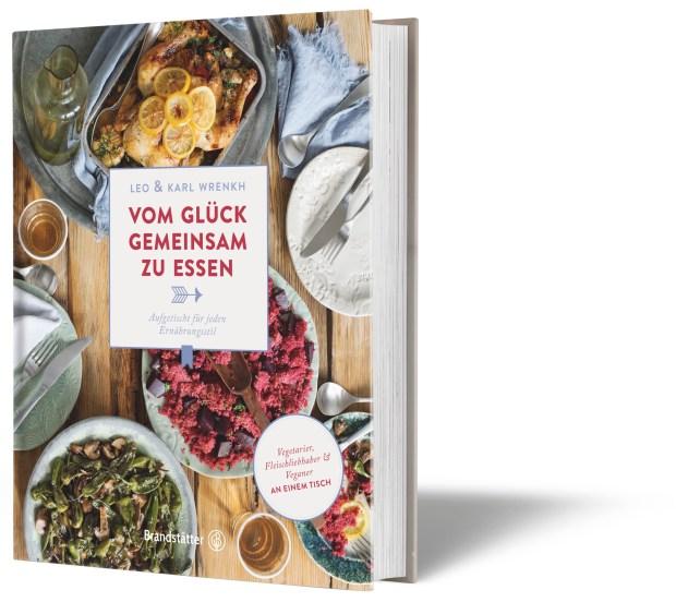 """""""Vom Glück gemeinsam zu essen"""" von Leo und Karl Wrenkh. Bild: Brandstätter Verlag"""