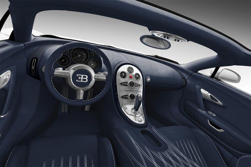 Bugatti Veyron Super Sport Blue Carbon Innenraum