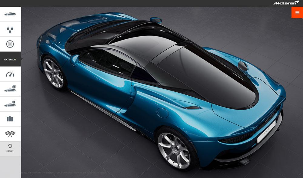 McLaren GT Onlinekonfigurator