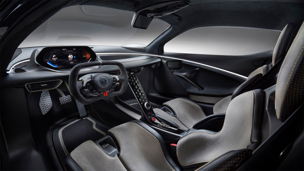 Cockpit Lotus Evija Hypercar