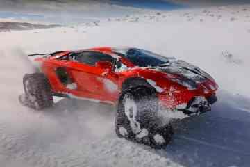Lamborghini Aventador mit Kettenantrieb