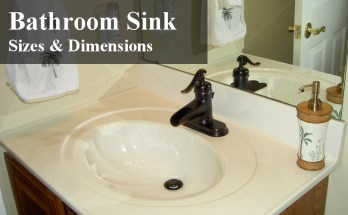 bathroom sink size