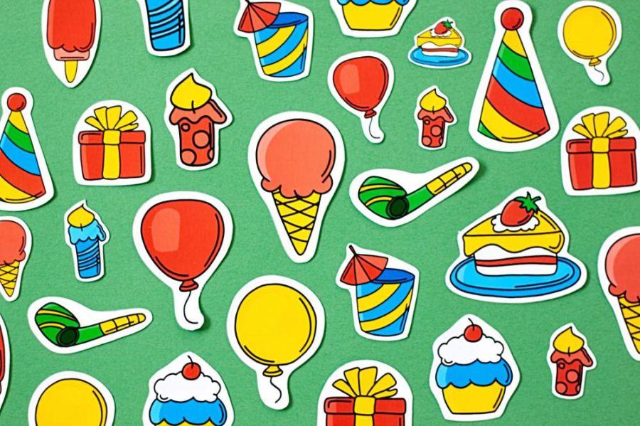 Sticker zum Geburtstag Übersicht