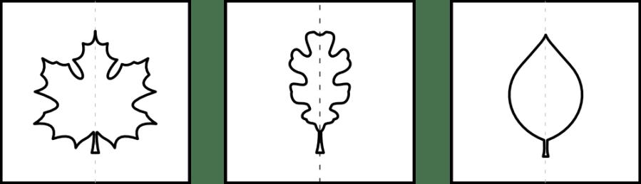 Blätter Schablone Kalender 2018 zum Fingerstempeln