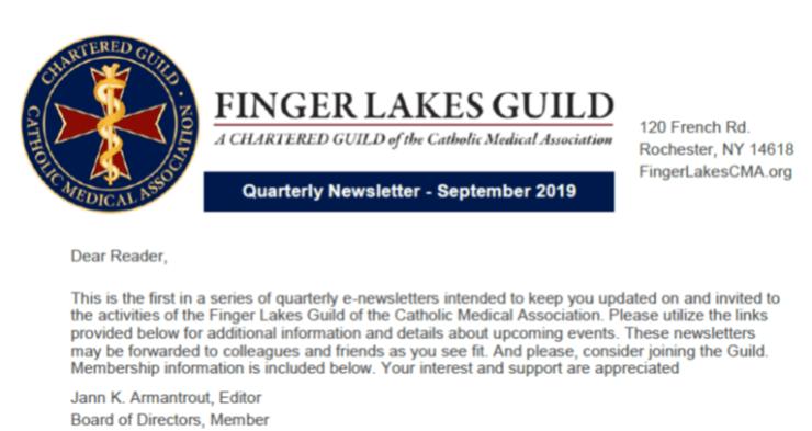 Newsletter 2019-9