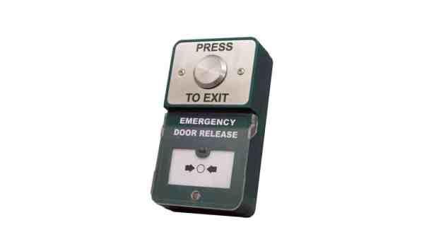 Dual Unit Press to Exit Emergency Door Release Borer Fingerprint Access Control