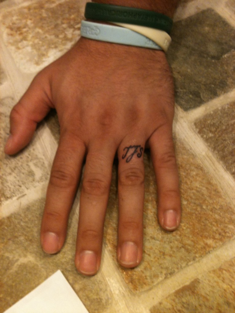 61 Awesome Engagement Ring Finger Tattoos Designs